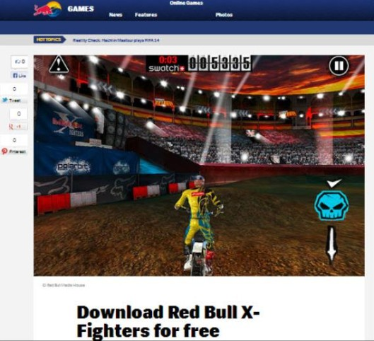 Red Bull Marketing - Red Bull X Fighters Mobile Game